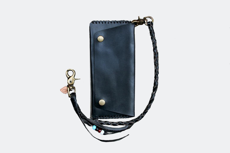 Long Wallet w/ Lanyard – Black (+ $30)