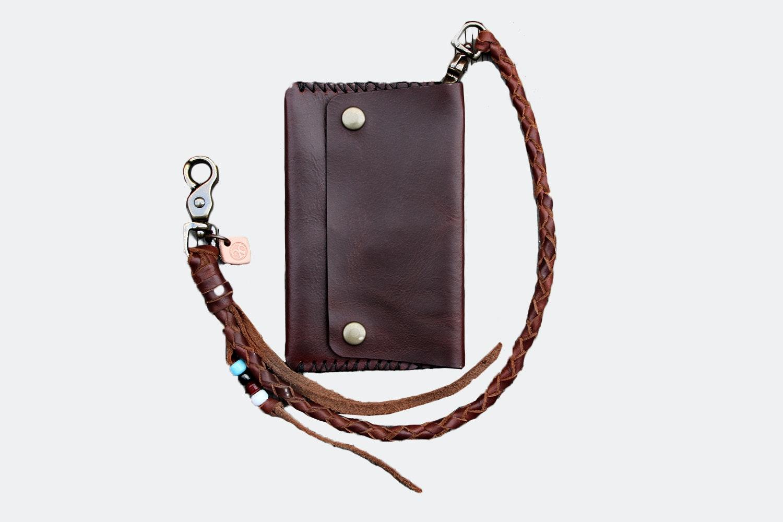 Mid Wallet w/ Lanyard  – Brown (+ $20)