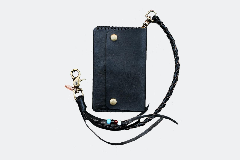 Mid Wallet w/ Lanyard  – Black (+ $20)
