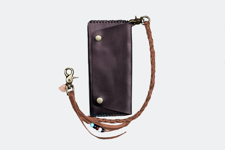 Long Wallet w/ Lanyard – Brown (+ $30)