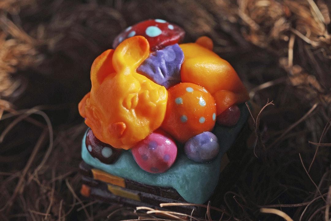 Frogkey Judy & Jolie Easter Artisan Keycaps