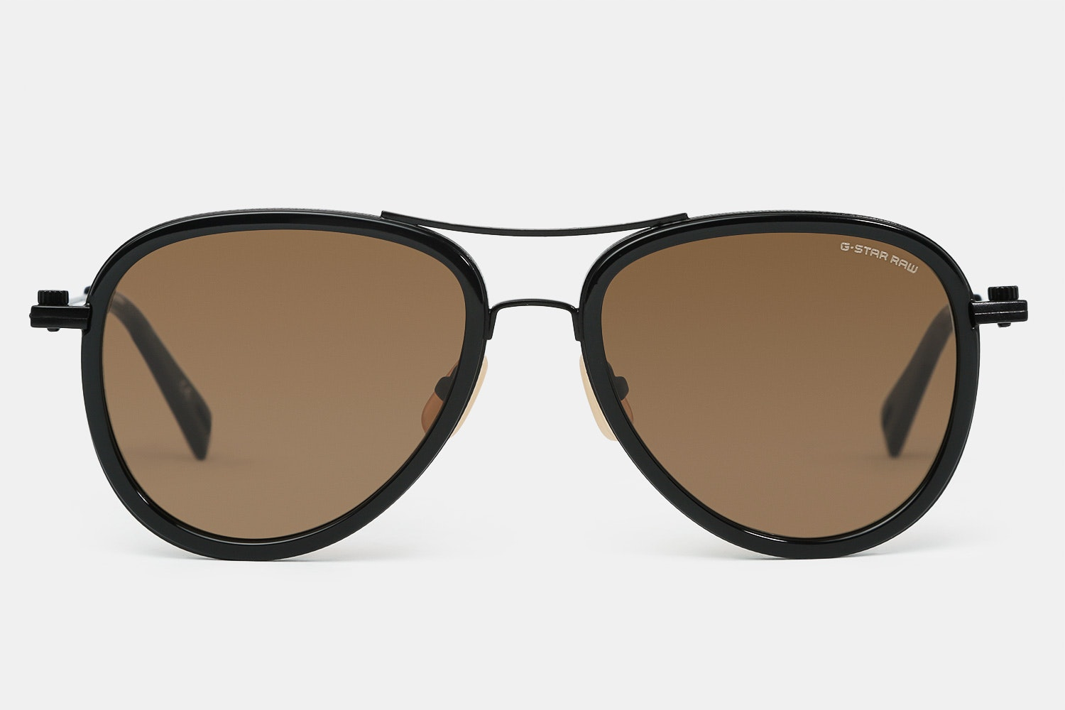 Black frame with brown lenses