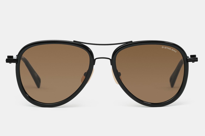 Black frame with brown lenses