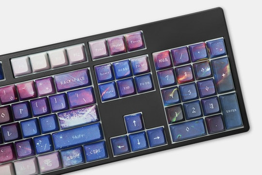 Galaxy Violet PBT All Over Dye-Subbed Keycap Set