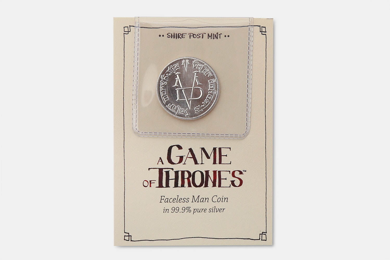 Pure Silver Coin of the Faceless Man