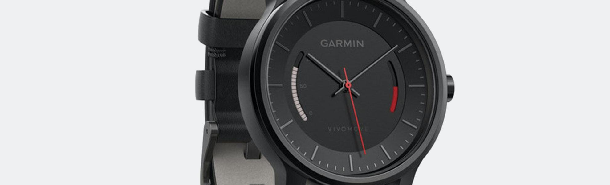 Garmin Vivomove Classic Black w/ Leather Band