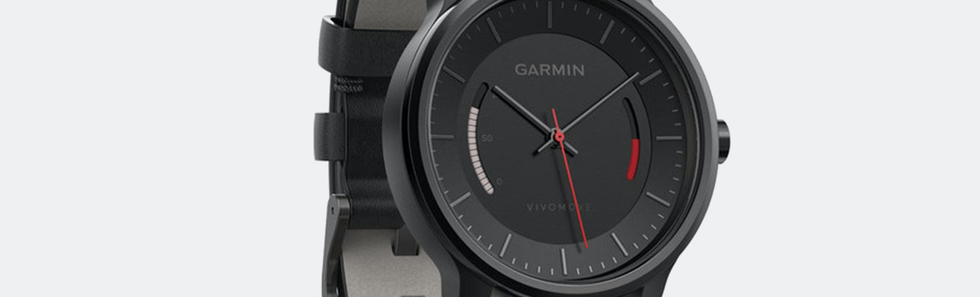 Garmin Vivomove Classic Black w/ Leather Band