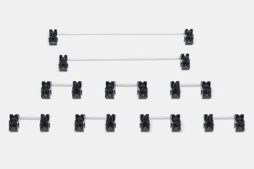 Gateron Black and White Plate Mounted Stabilizer Set