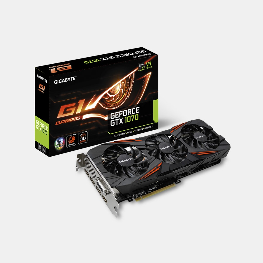 Gigabyte GeForce GTX 1070 G1 Gaming 8G (Rev. 2.0)