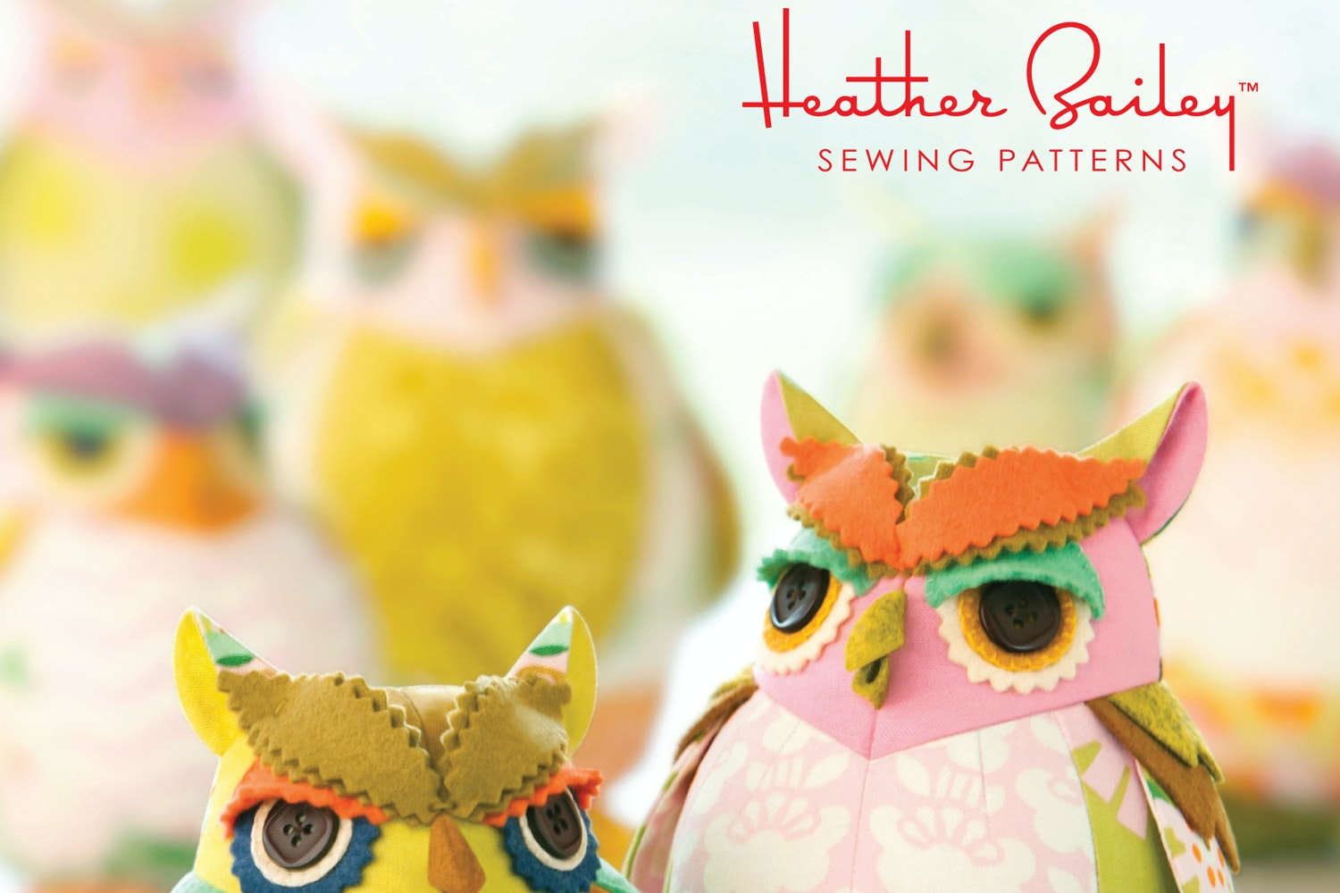 Ginger Snap Fabric and Owl Pin Cushion Pattern