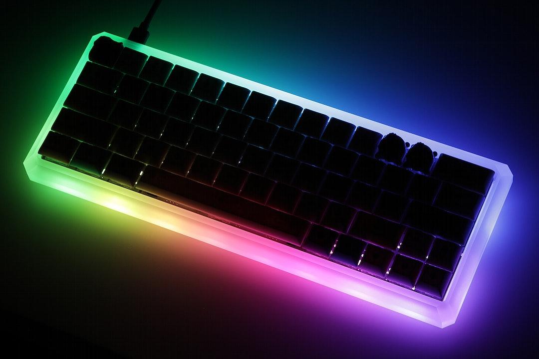 GK Light Edge 60% Acrylic Keyboard Case