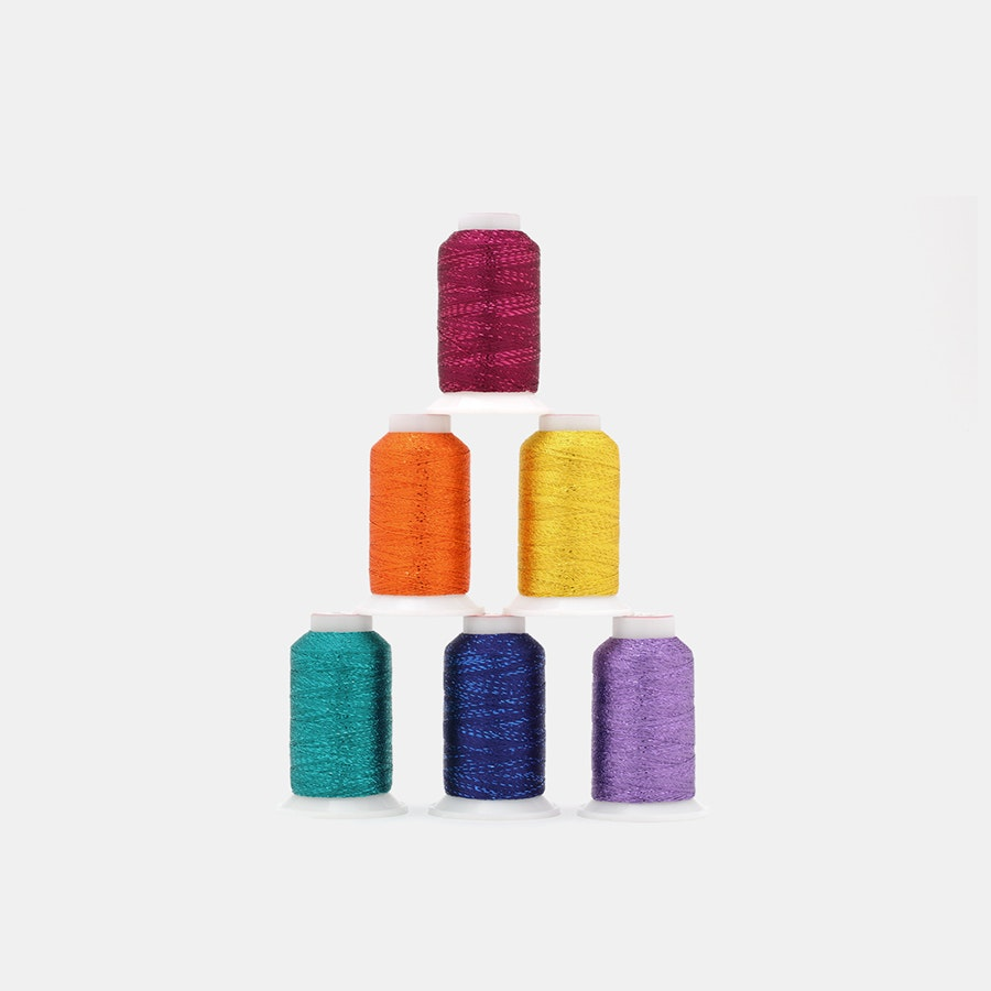 GlaMore Metallic Thread by WonderFil (6-Pack)