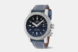 Airman 46 - GL0134 | 46 mm, Blue Dial, Blue Leather Strap