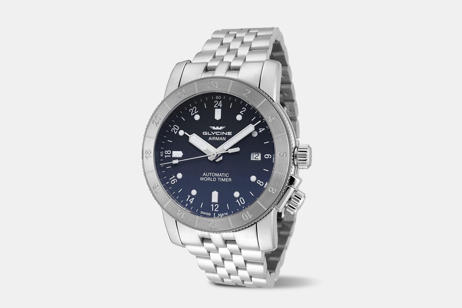 Airman 42 - GL0068 | Blue & Black Dial, Stainless ST