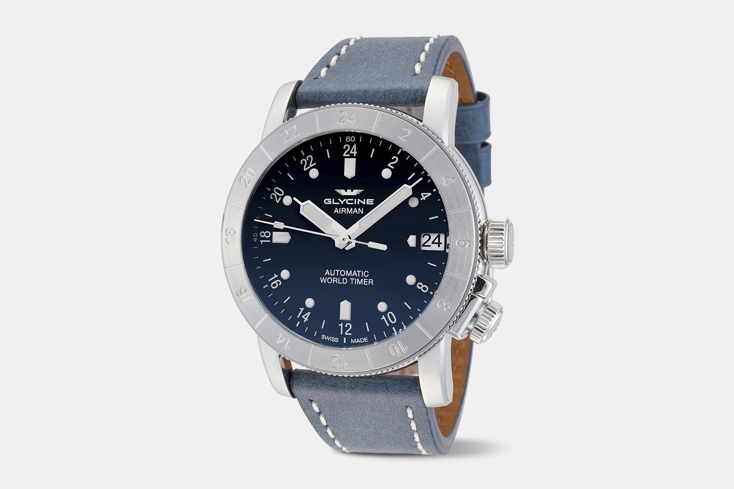 Airman 44 - GL0057 | Blue Dial, Blue Leather
