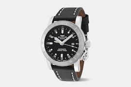 Airman 44 - GL0137 | 44 mm, Black Dial, Black Leather Strap