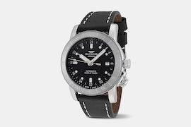 Airman 42 - GL0140 | Black Dial, Black Leather Strap