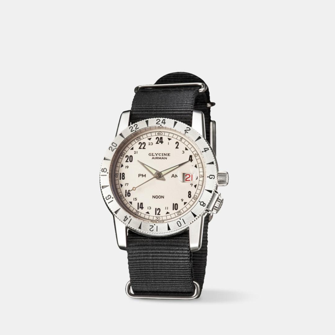 Glycine Airman Vintage Noon 1953 Automatic Watch