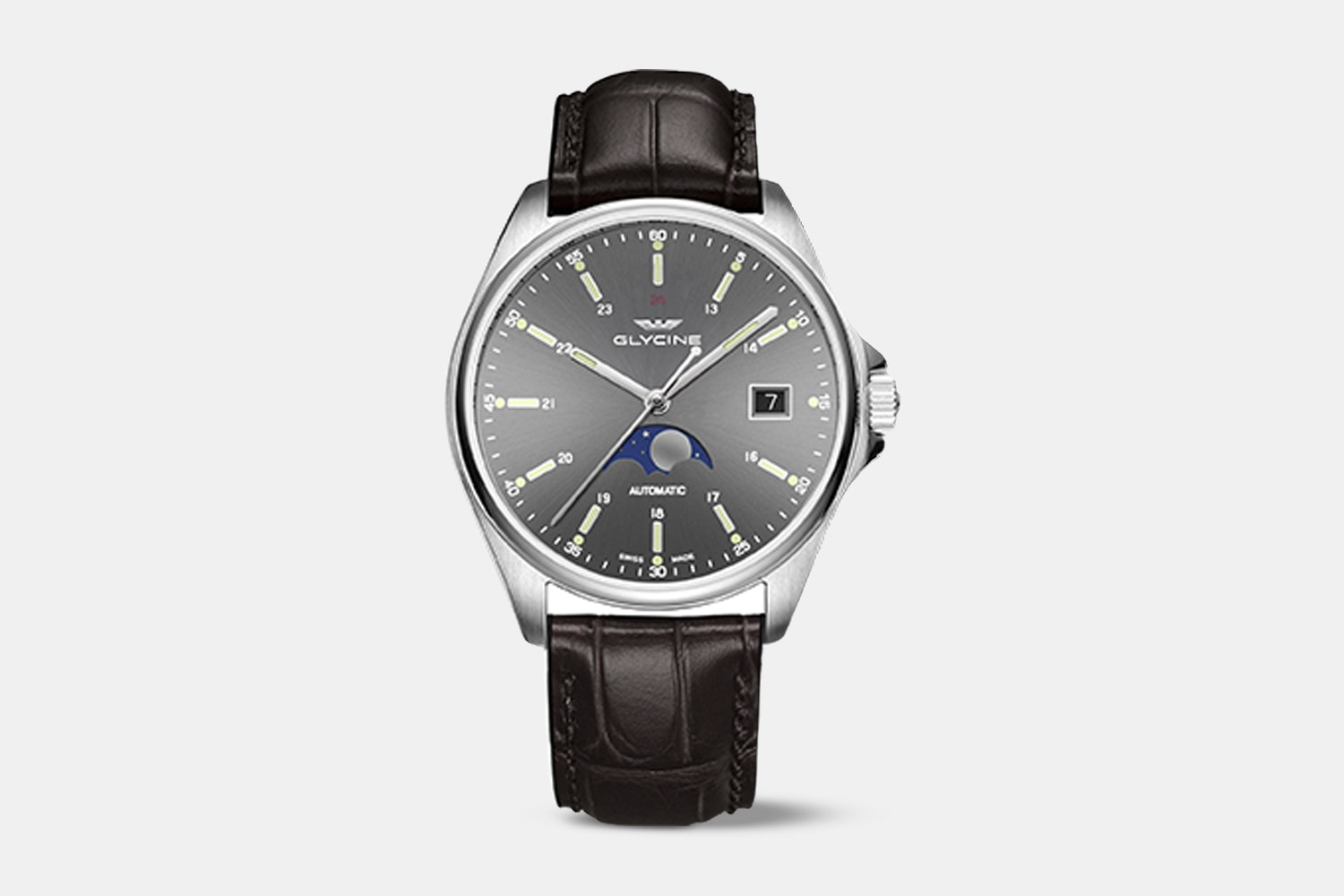 GL0114 | Anthracite Dial, Brown Leather Strap