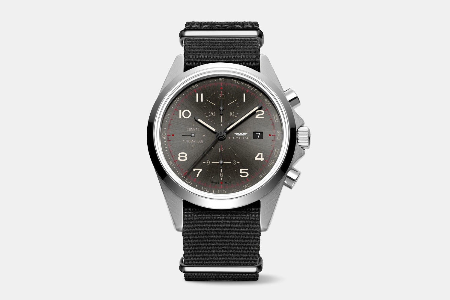 GL0100 (gray dial, black fabric strap)