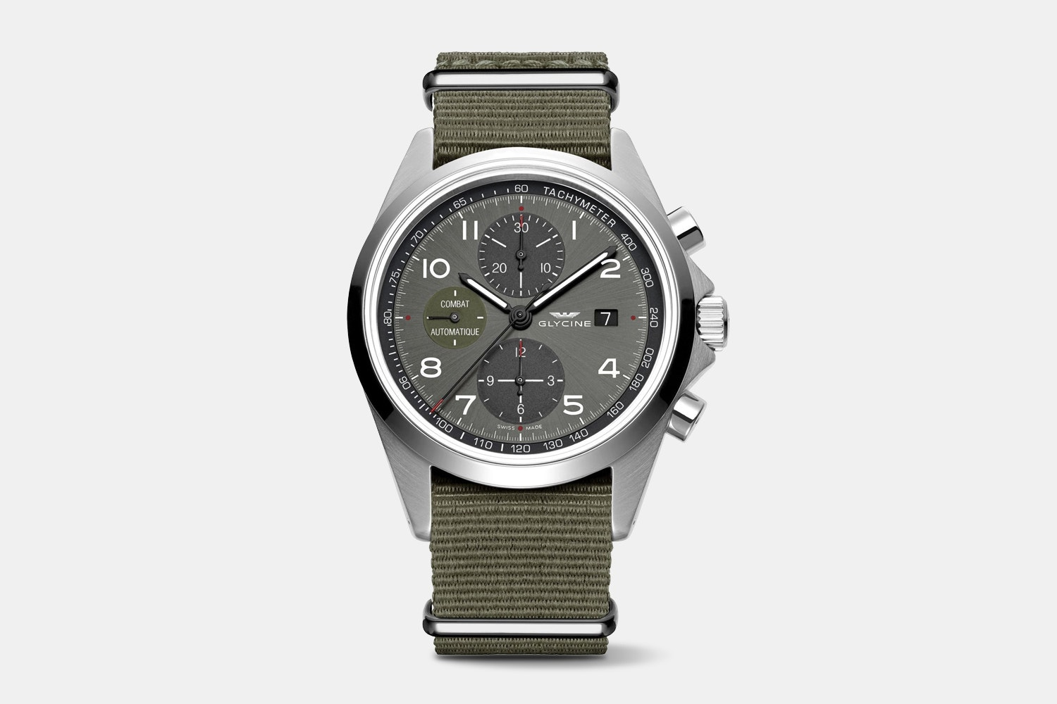 GL0099 (gray dial, olive fabric strap)