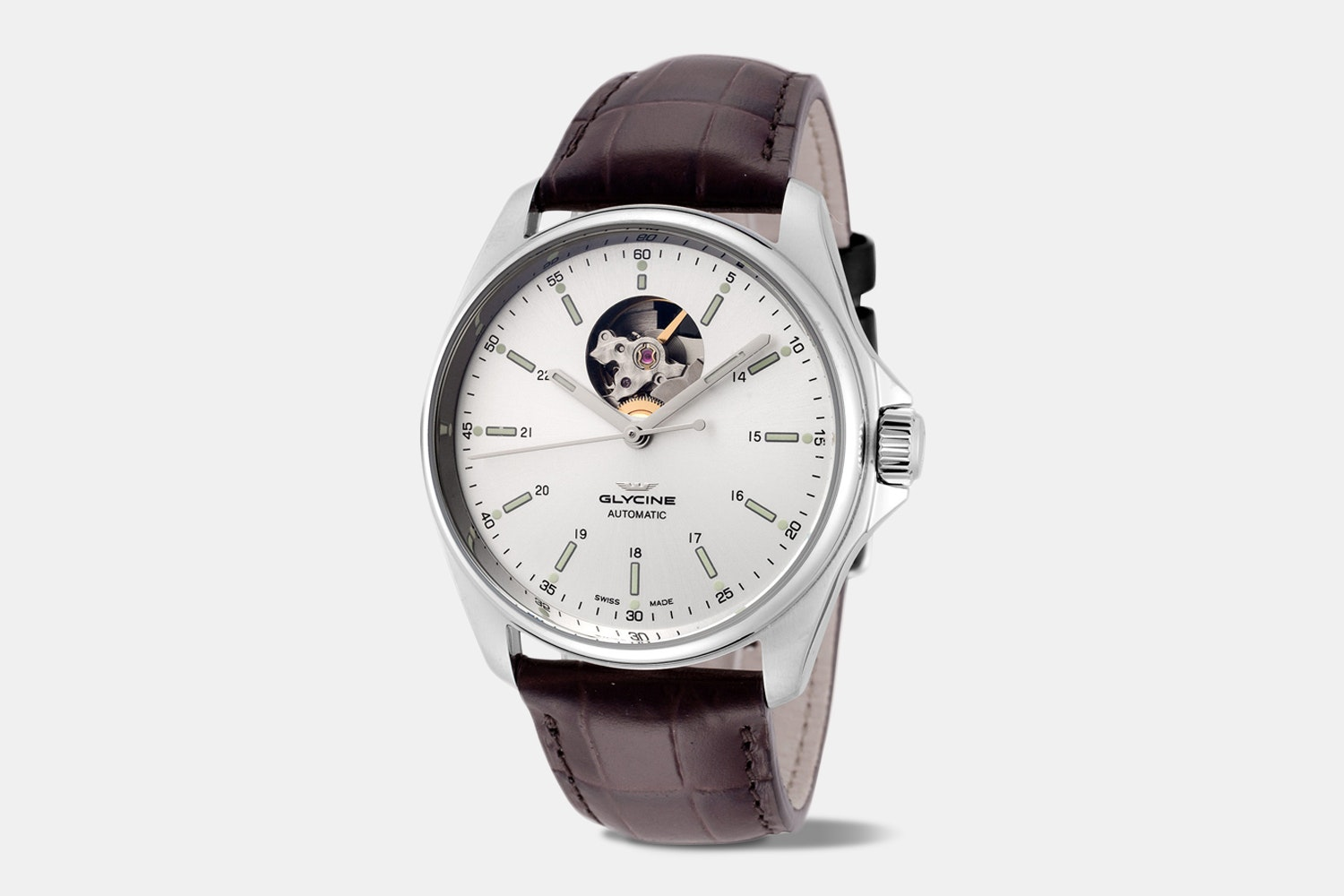 Glycine Combat Classic Open Heart Automatic Watch