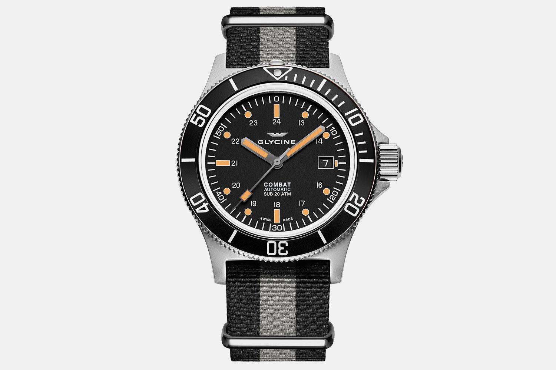 GL0083 | Black Dial, Black Bezel, Black & Grey Fabric Strap