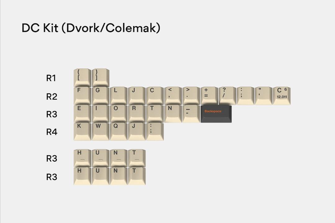 Massdrop x T0mb3ry GMK Carbon Custom Keycap Set