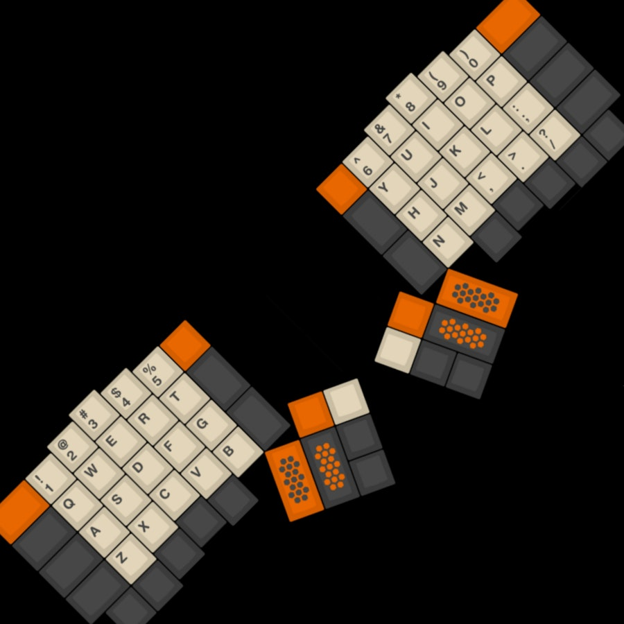 GMK Carbon Ergodox/Planck Modifers Kit