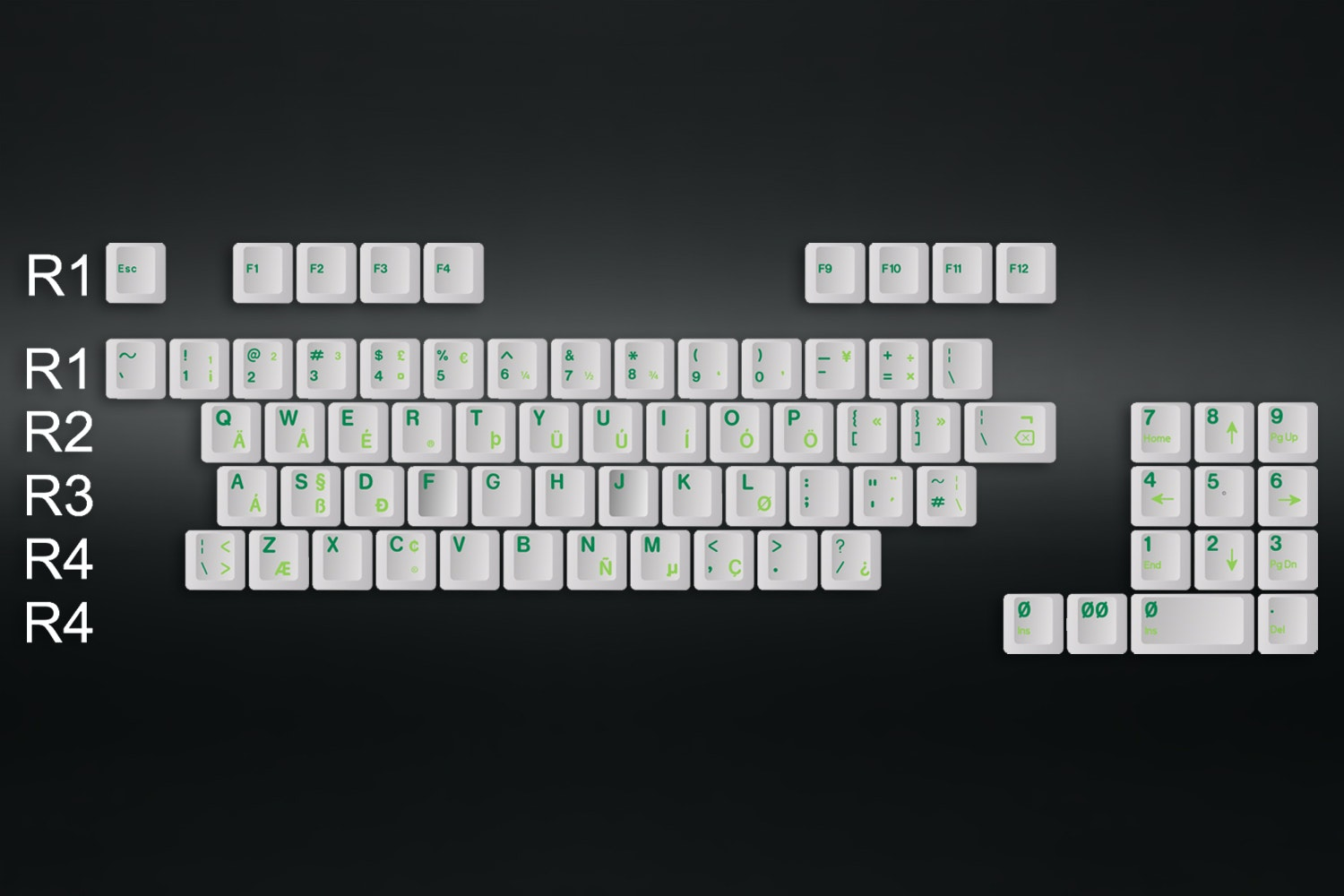 GMK TA Royal Alpha Typewriter Keycap Set