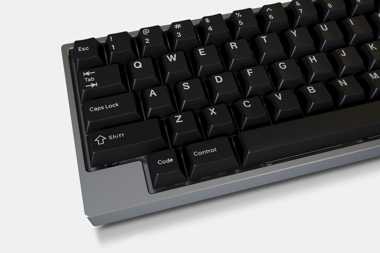 Massdrop White-on-Black GMK Keycap Set