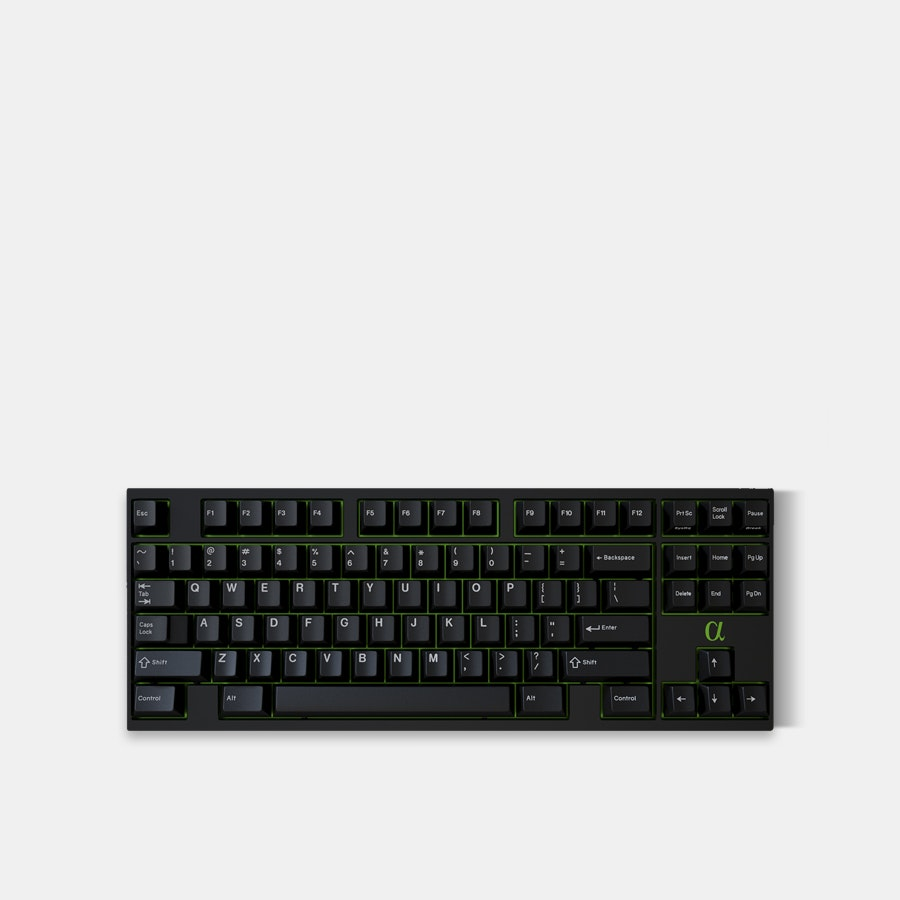 GMK White on Black Custom Keycap Set