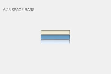 6.25u Space Bars