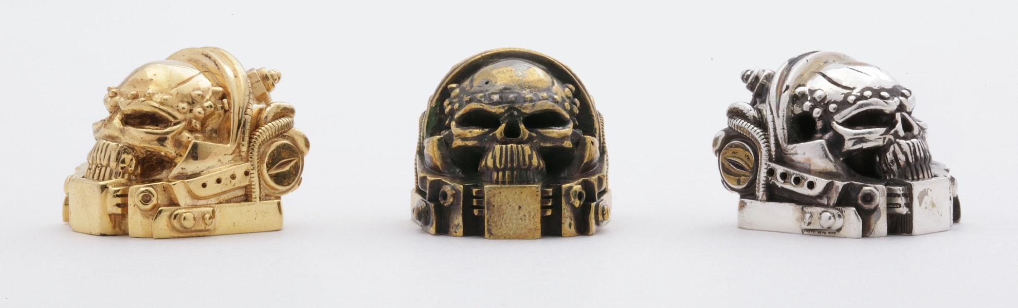 Golden Star Skull Marine Artisan Keycap