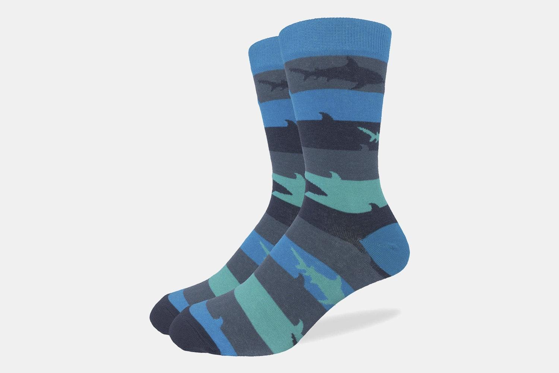 Aqua Shark Week Crew Socks