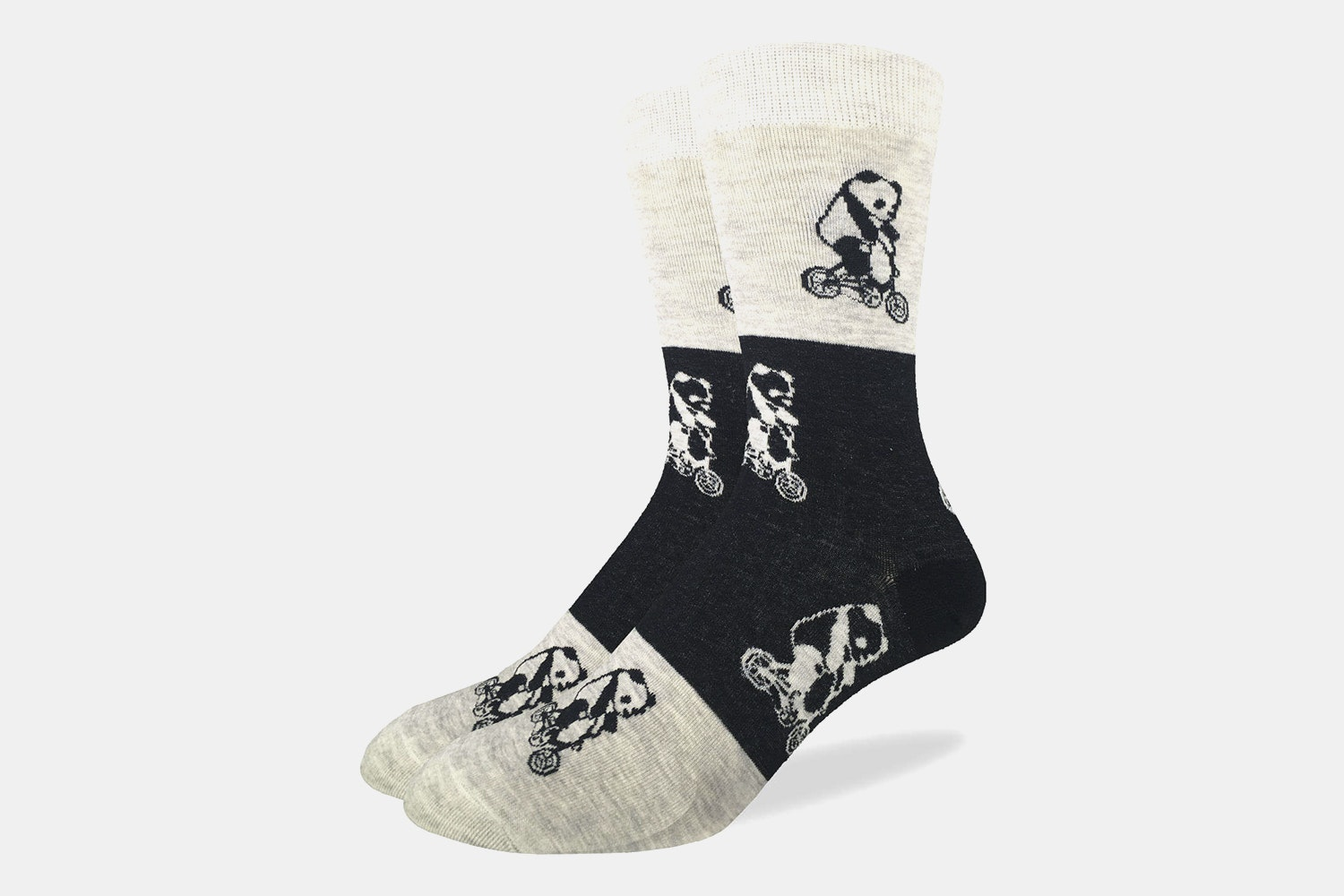 Pandas Riding Bikes Crew Socks