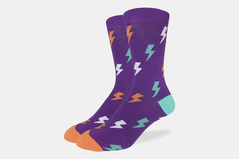 Lightning Bolts Crew Socks