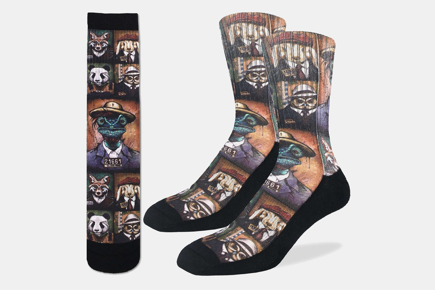 Animal Mugshots Active Fit Socks