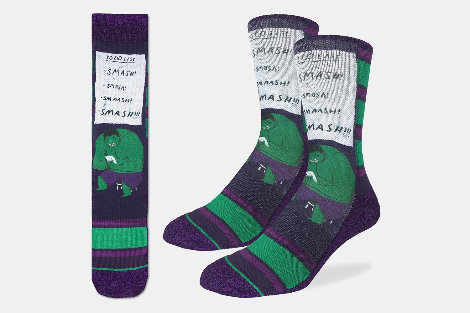 Smash TO DO List Active Fit Socks