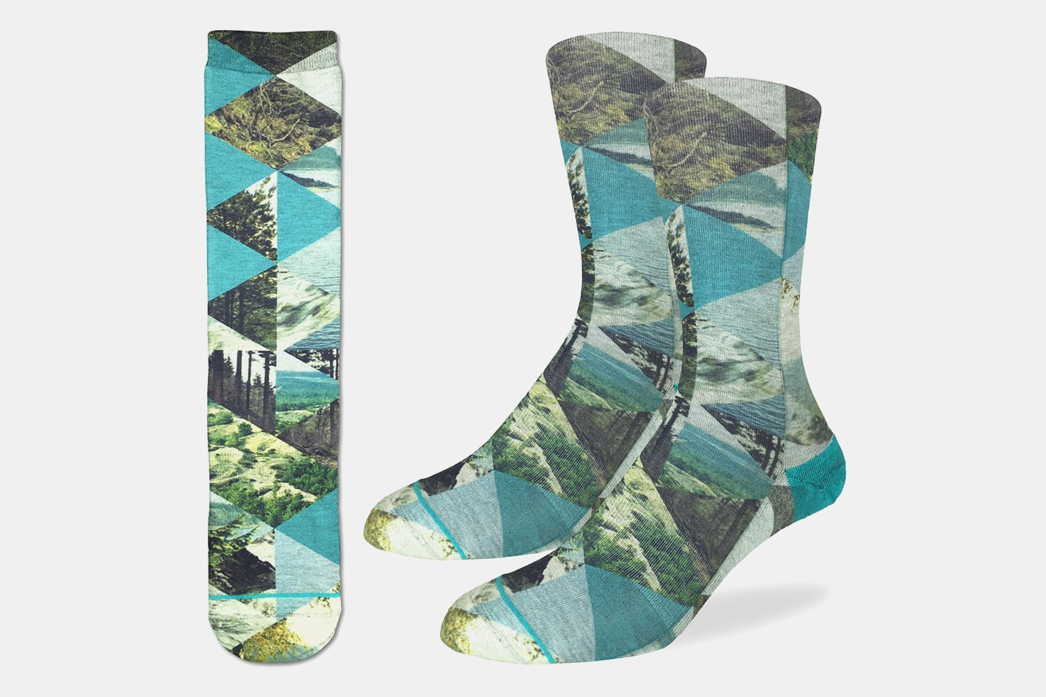 Forest of Triangles Active Fit Socks