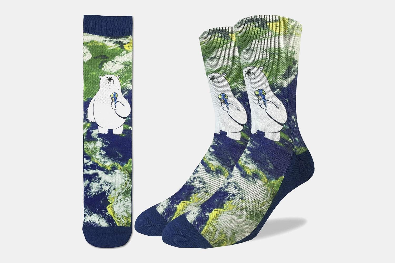 Global Warming Polar Bear Active Fit Socks