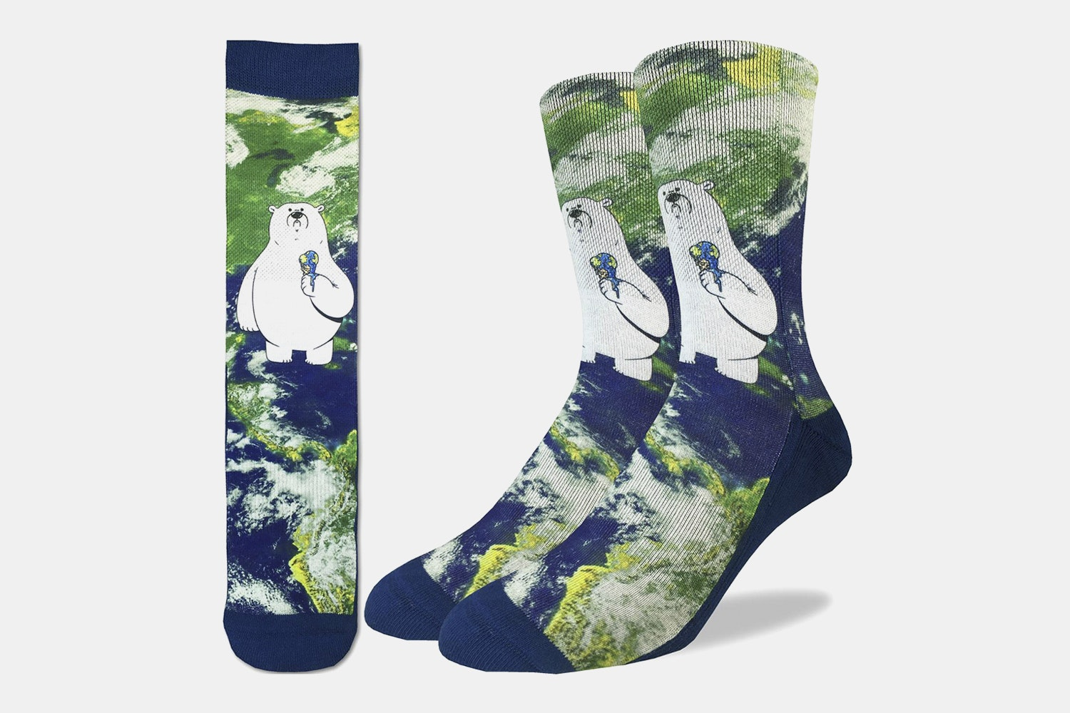 Global Warming Polar Bear Active Fit Socks