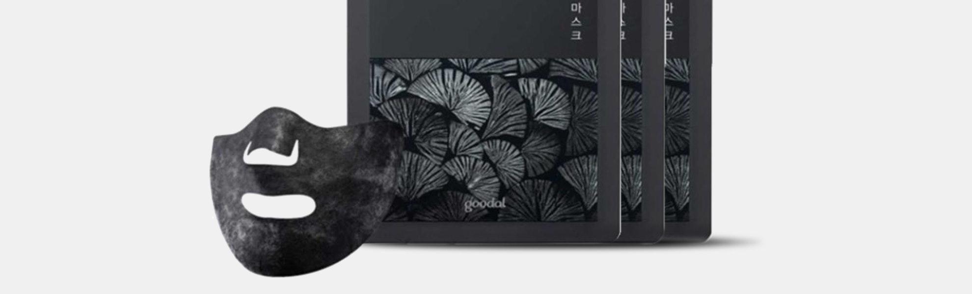 Goodal Black Charcoal Carbonated Masks (3 Sheets)