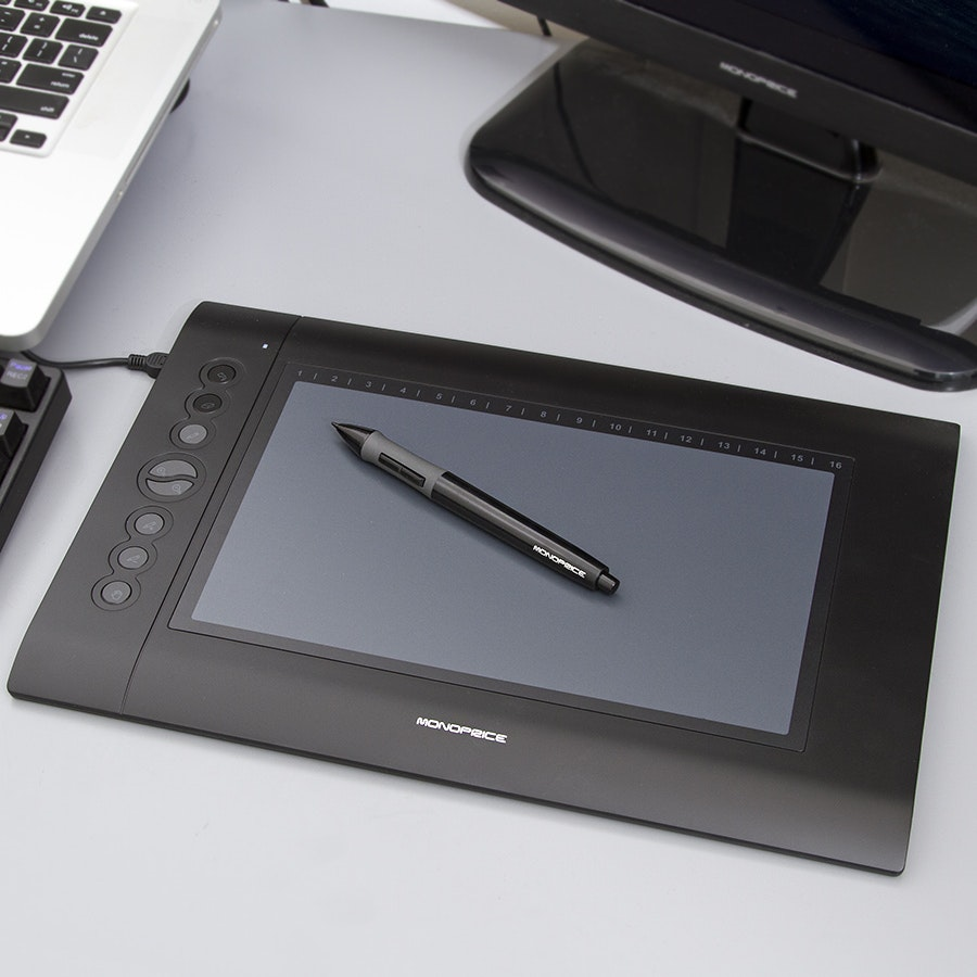 "Monoprice 10"" X 6.25"" Graphics Drawing Tablet"