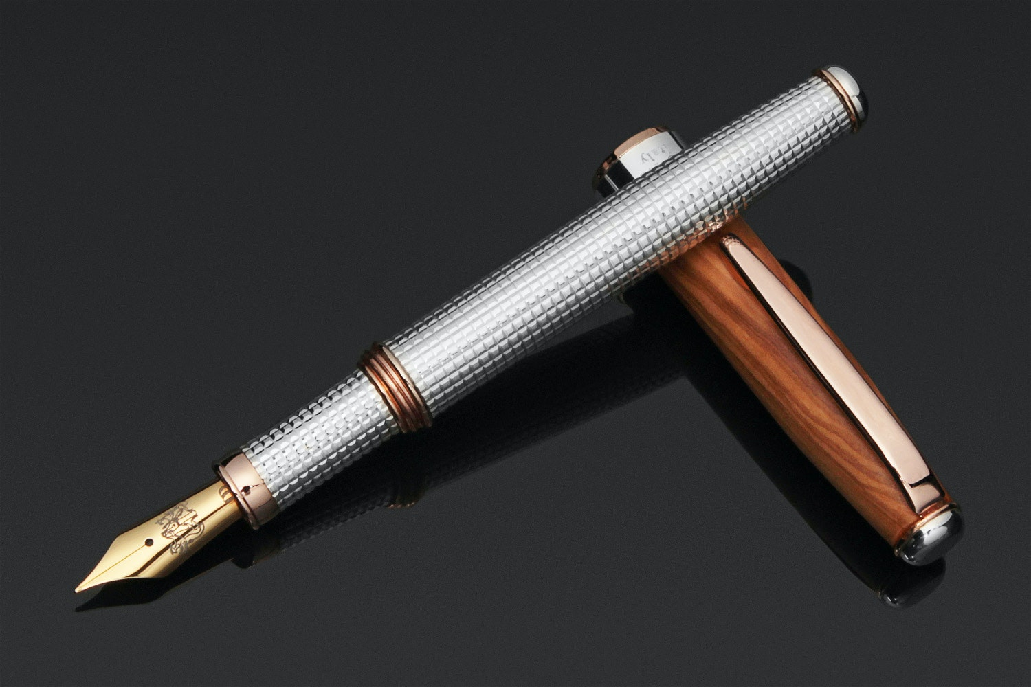 Grifos Mandragola Silver & Wood Fountain Pen