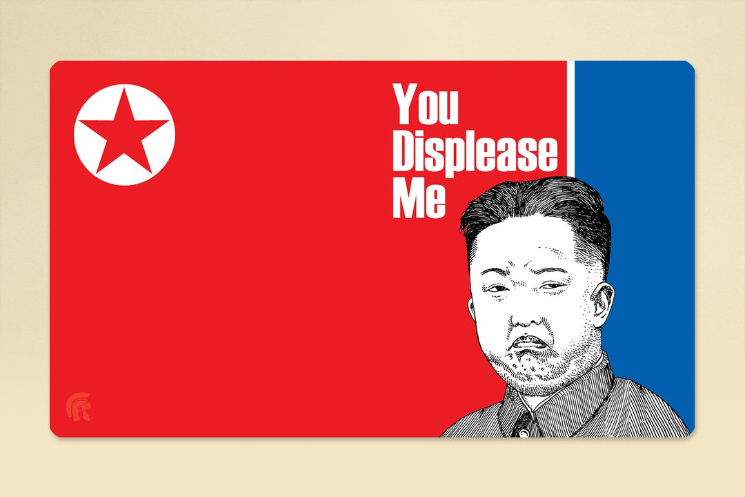 Grumpy Kim Legion Playmat