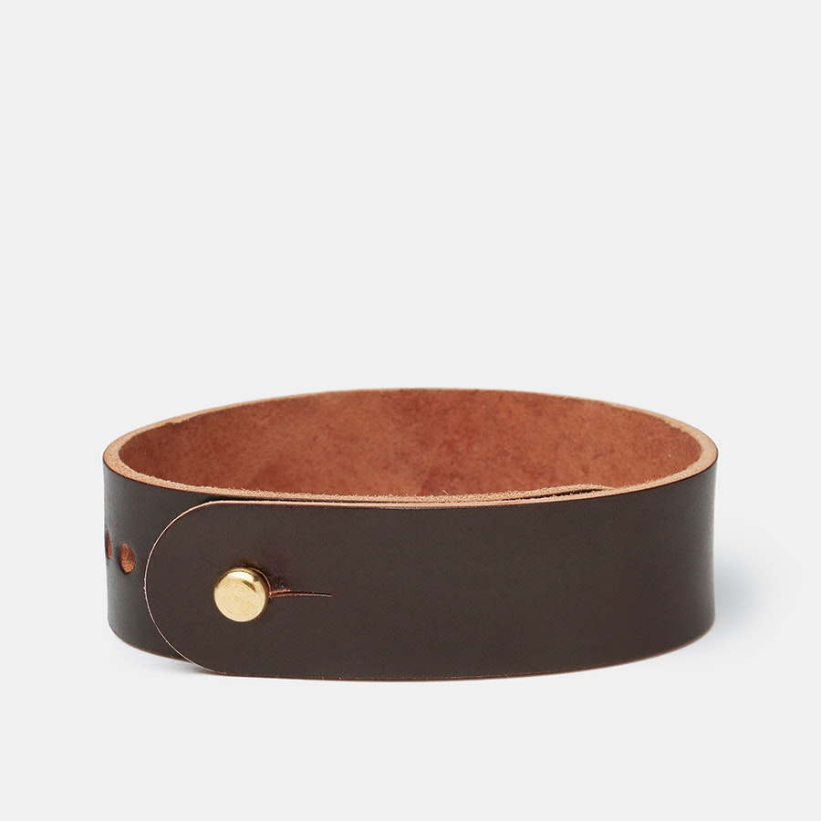 Guarded Goods Shell Cordovan Button Stud Strap