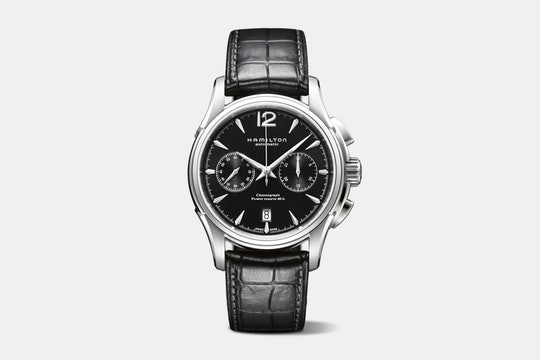 H32606735 (black dial, leather strap)