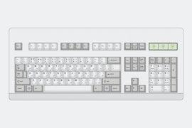 Hammer BSP Classic Beige PBT Dye-Subbed Keycap Set