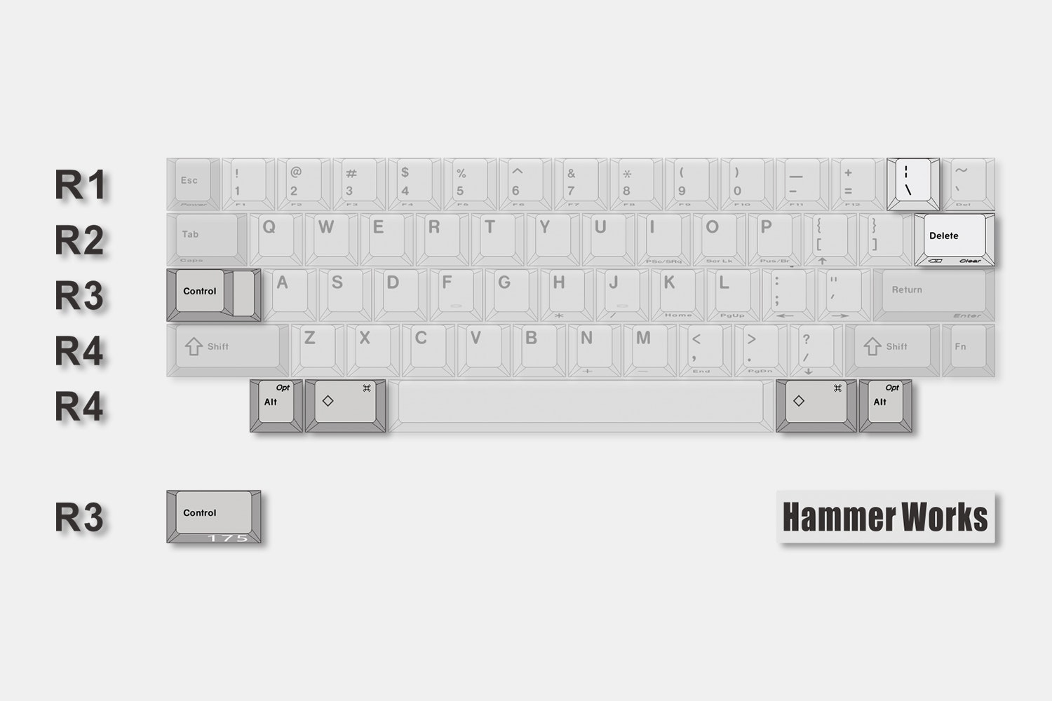 Mods for HHKB layout (8-keys)
